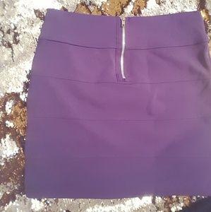 Purple Bandage Mini Skirt